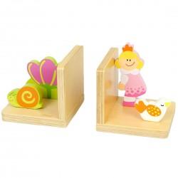 Serre livre en bois pour enfant Princesse