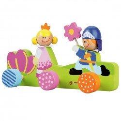 Portemanteau en bois Princesse pour chambre d'enfant