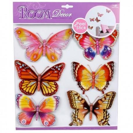 Autocollants decoratifs Enfants Stickers muraux Papillons