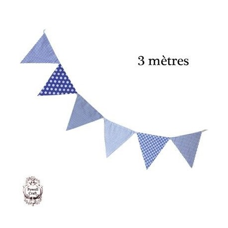 Guirlande de fanions en coton 3 m Décoration Chambre d'enfant