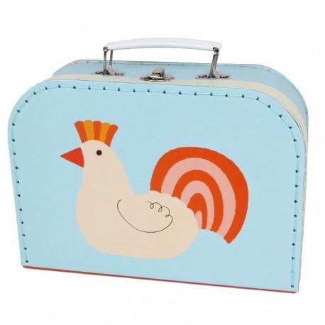 Décoration chambre enfant Valise animal Malette de rangement poule