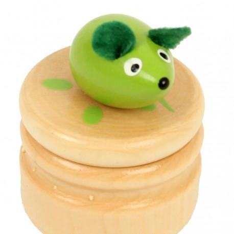 Boite à dents de lait souris verte