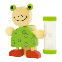 Porte brosse à dents Sablier grenouille en bois pour Enfant
