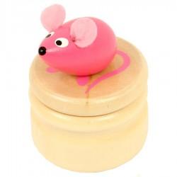 Boite à dents de lait souris rose