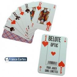 Jeu de 32 cartes Belote-Optic jouer sans vos lunettes !