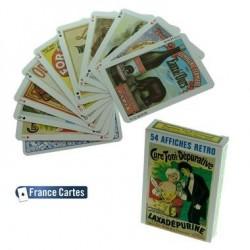 Jeu de 54 cartes Collection Les affiches Rétro