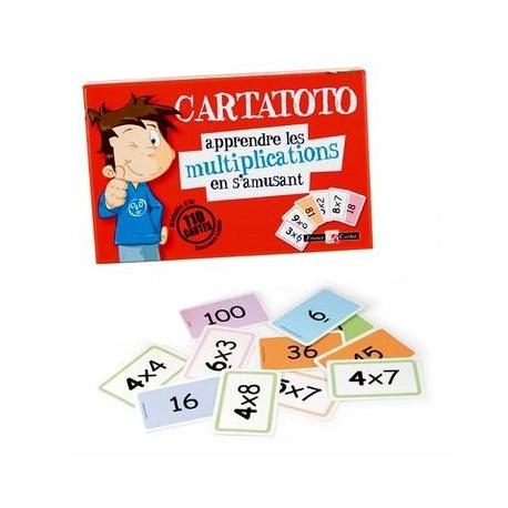 Jeu pour Apprendre les Multiplications 110 cartes éducatives Cartatoto Enfant