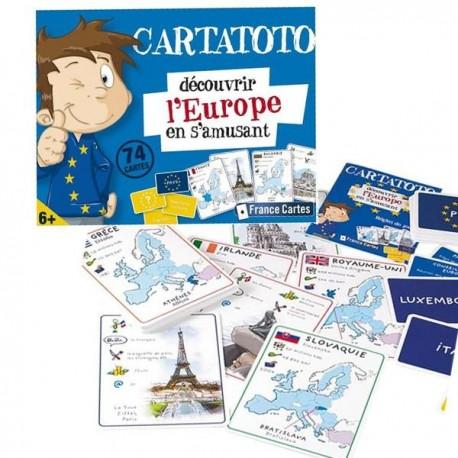 Jeux de cartes éducatives Cartatoto Europe 74 cartes à jouer