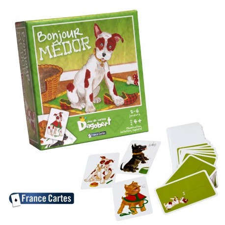 Cartes à jouer enfant jeu éducatif Dagobert Bonjour Médor Enfant 4 ans +