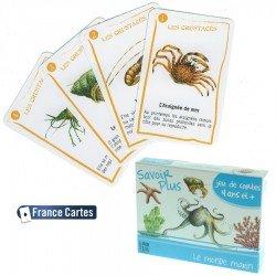 Jeux de cartes éducatif 7 familles Savoir  + Le monde marin Enfant 6 ans +