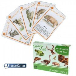 Jeux de cartes éducatif 7 familles Savoir + Le monde animal Enfant 6 ans +