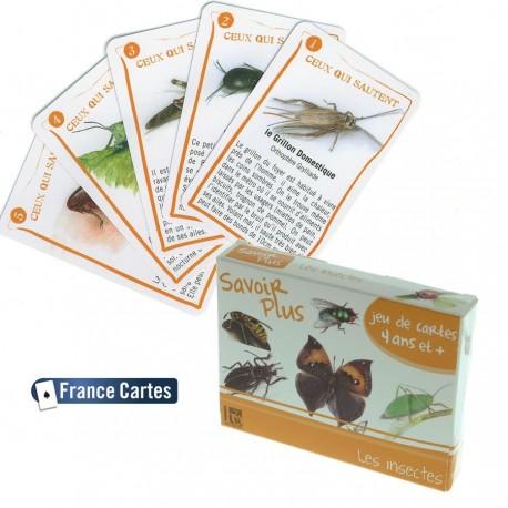 Jeu de cartes éducatif 7 familles Savoir + Les insectes Enfant 6 ans +
