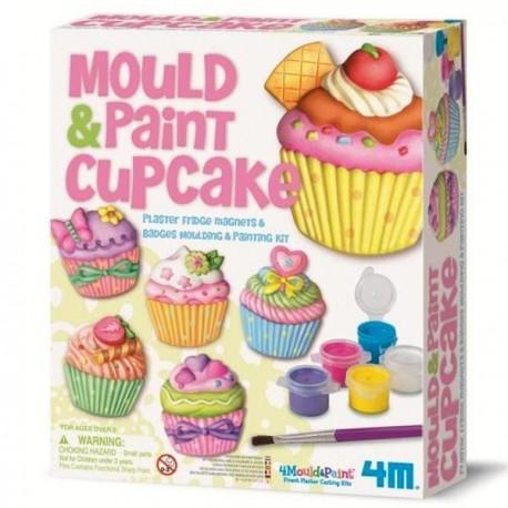Kit de moulage Magnets et badges Cupcake jeux de loisirs créatifs pour filles 6+