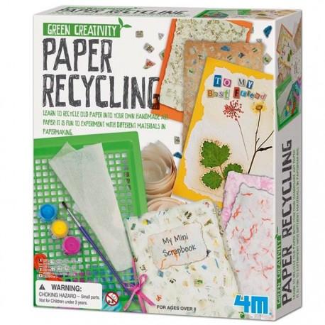 Kit Loisirs créatifs Recycler du papier 4M