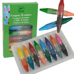 Crayons pastels Djeco 8 crayons de cire 16 couleurs