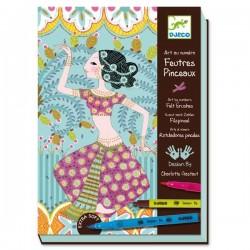 Loisirs créatifs filles Kit de dessin Feutres Pinceaux Djeco L'Orient exquis