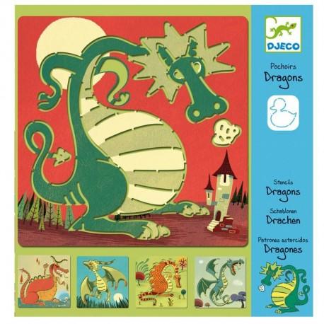 Djeco Pochoir Dragon Enfants garçons 4 à 8 ans