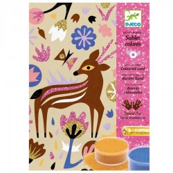 Sables colorés Djeco Loisirs créatifs Merveilles des bois