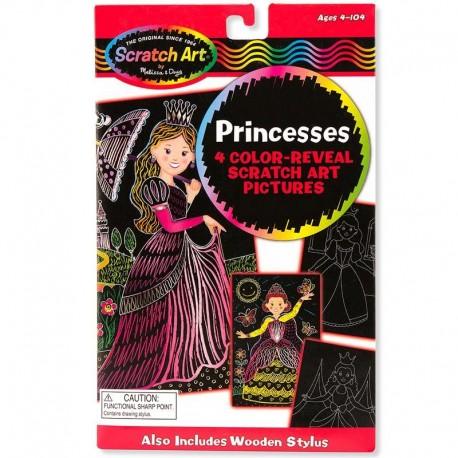 Dessins holographiques Magique Révéler les couleurs Princesses Enfants 4 ans +