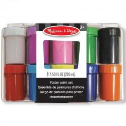 Pots de peinture gouache enfants 3 ans 10 pots de 22ml couvercle vissable