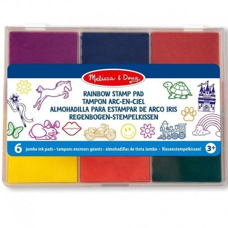 Encreurs pour tampons Palette de 6 Enfants 3 ans +