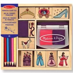 Loisirs créatifs tampons Princesses 15 pièces avec encreur et crayons
