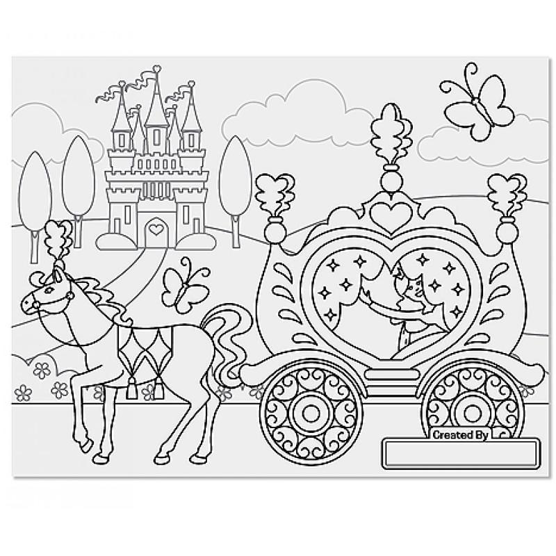 Coloriage Princesse Grand Format.Cahier De Coloriage
