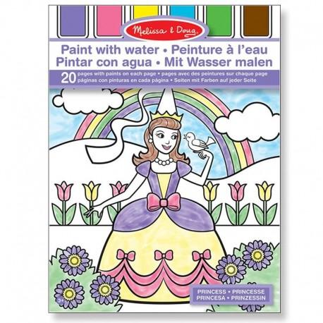 Kit Peinture à l'eau 20 dessins à peindre Princesses