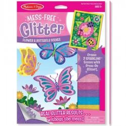 Dessin paillette Enfant Papillons et coccinelles