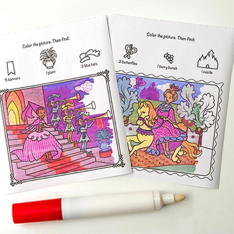 Feutre Coloriage En Anglais.Coloriage Feutre Magique Princesse Carnet De 24 Pages Pour