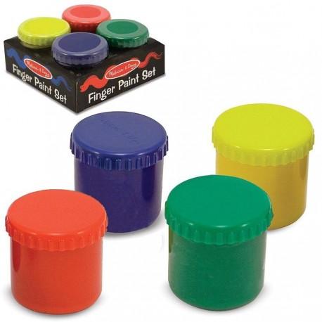 Peinture au doigt bébé 4 pots multicolore de 100 ml