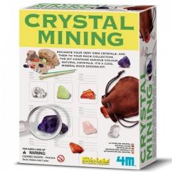 Kit de Loisirs créatifs Deterre tes pierres precieuse Mine de Cristal 4M