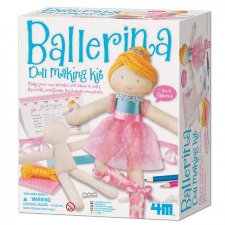 Kit de couture pour fabriquer ta poupee Danseuse Ballerine 4M