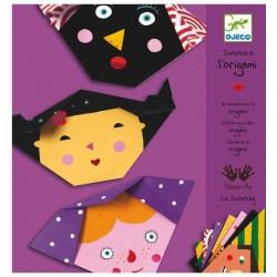 Pliage papier origami Djeco visages loisirs créatifs