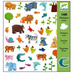 Stickers autocollants Animaux Djeco Enfants 4 à 8 ans