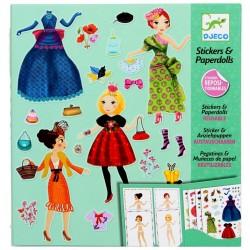 Jeux créatifs Djeco Stickers réutilisables poupées a habiller filles 6 à 11 ans