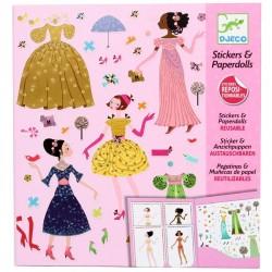 Djeco Stickers repositionnables poupées à habiller jeux activités filles 6 ans +