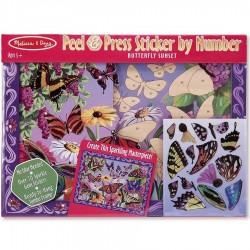 Autocollants numérotés papillons