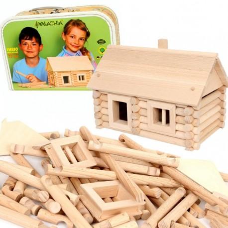 jouet maison en rondins 72 pcs