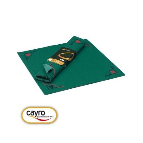 Tapis de  jeu de cartes en feutre vert 50 x 50 cm Fabriqué en France