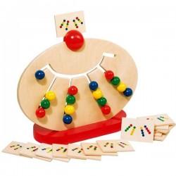 Jouet éducatif en bois Tableau assortir les couleurs selon le modèle