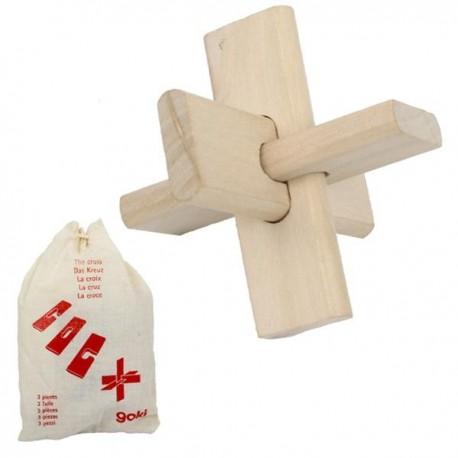 Casse tete Croix Jeux de patience en bois 3 pcs