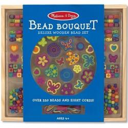 Perles en bois fleurs cœurs papillon set de 220 pièces Enfants 4 ans +