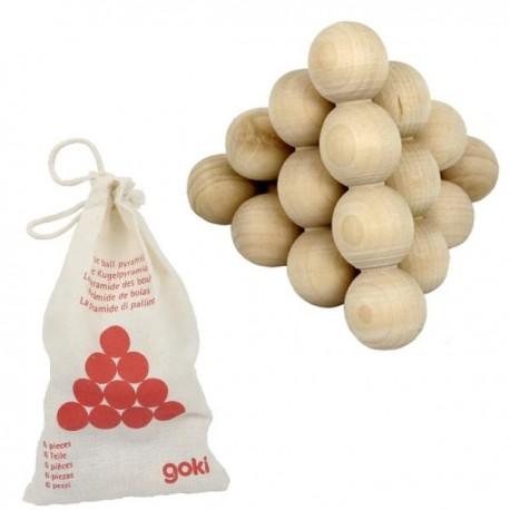 casse tete pyramide de boules Jeux de patience en bois 7 pcs