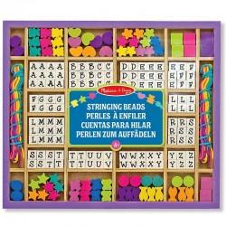 Kit colliers de perles Alphabet en bois set de 200 pièces Enfants 4 ans +