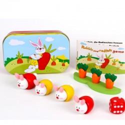 Jeux de voyage Jeu des lapins carottes Enfants 4 ans +