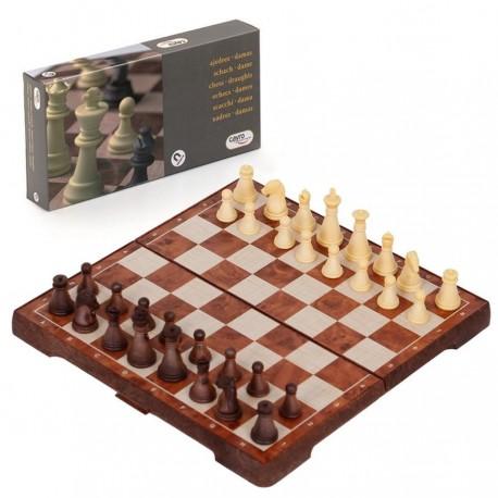 Jeu d'échecs et jeu de dames aimanté