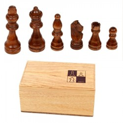 Coffret figurines échec en bois