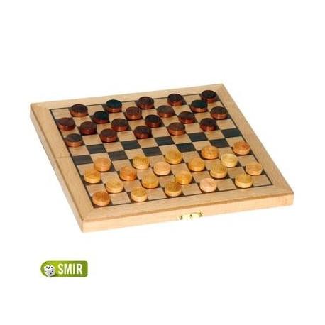 jeux de soci t coffret dames pliant en bois h tre marqueterie un jeux des jouets. Black Bedroom Furniture Sets. Home Design Ideas