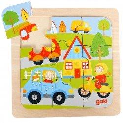 Puzzle 2 ans en bois Les véhicules